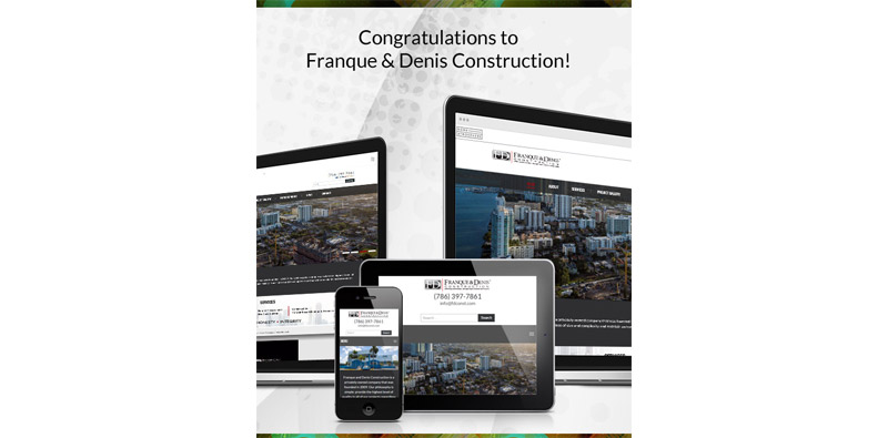 Congratulations to Franque & Denis Construction Picture Thumbnail