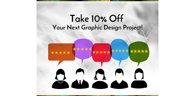 Leave Us A Review for 10% Off Your Graphic Design Project! Picture Thumbnail