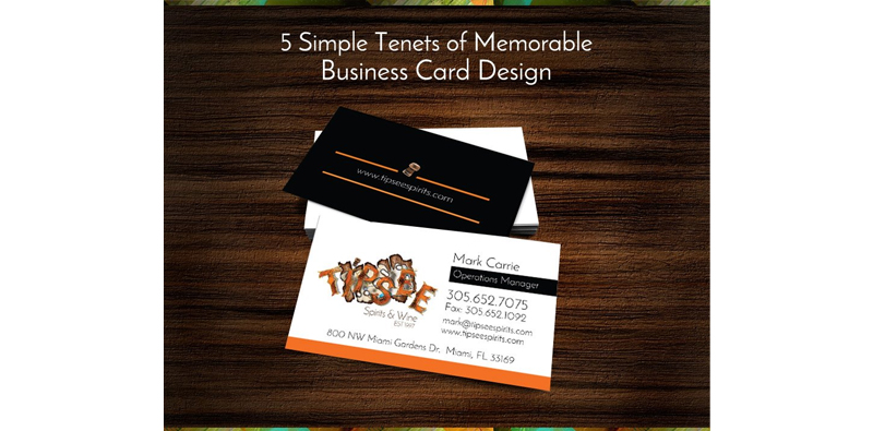 5 Simple Tenets of Memorable Business Card Design Picture Thumbnail