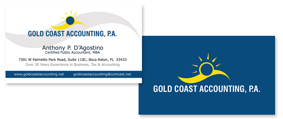 Gold coast accounting pa business cards portfolio back to portfolio view more business cards reheart Image collections