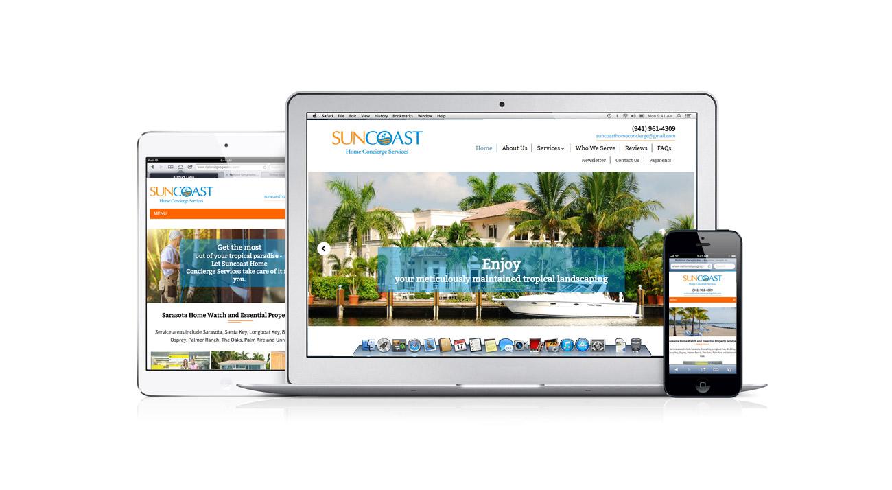 Suncoast Home Concierge | Website Design | Portfolio