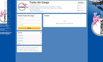 Turks Air Cargo Twitter Page Portfolio