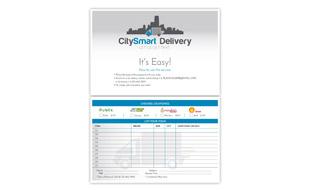 CitySmart Delivery Flyer Design Portfolio