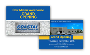 Invite Card - Coastal Construction  Portfolio