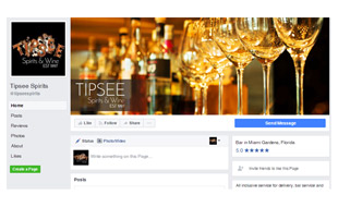 Facebook Cover Design - Tipsee Spirits & Wine Portfolio