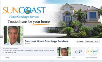 Facebook Landing Page Design - Suncoast Home Concierge Portfolio