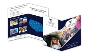 Mercury Auto Transport Brochure Design Portfolio