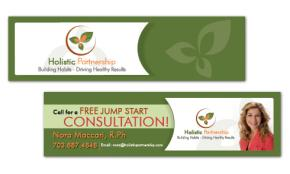 Bookmark Design - Holistic Partnership Portfolio