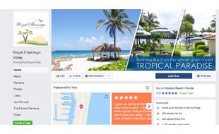 Facebook Cover Design - Royal Flamingo Villas Portfolio