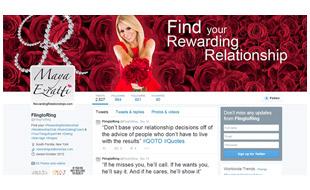 Rewarding Relationships Twitter Page Portfolio