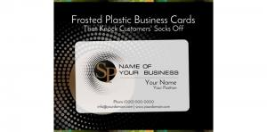 Frosted Plastic Business Cards Picture Thumbnail