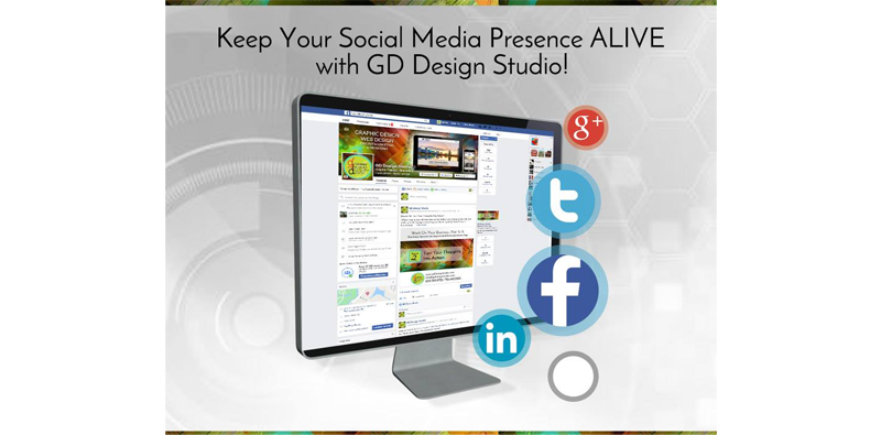 Keep Your Social Media Presence ALIVE with GD Design Studio! Picture Thumbnail