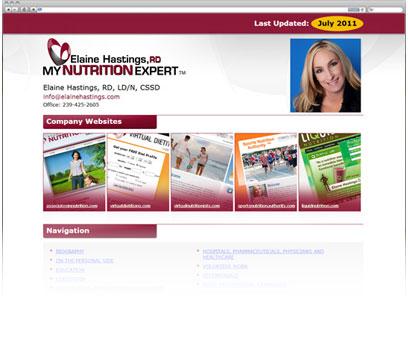 Elaine Hastings, RD: My Nutrition Expert Portfolio