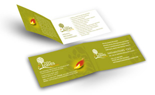 Fallen Leaves Folded Business Card Portfolio