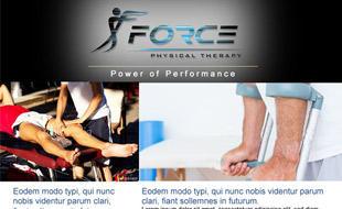 Force Physical Therapy E-Newsletter Portfolio