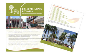 Full Page Design - Fallen Leaves Recovery Portfolio