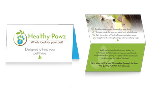 Healthy Pawz Business Card Portfolio