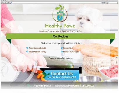 Health Pawz - Coming Soon Page Design Portfolio