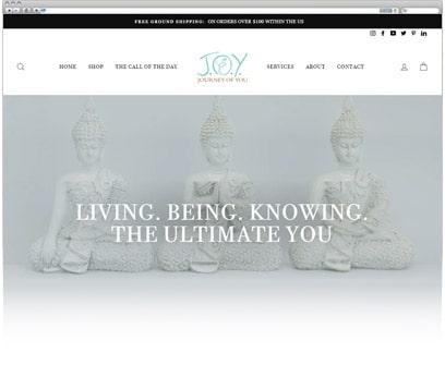 JOY Journey of you - Web Design Portfolio