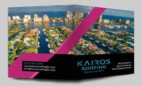 Kairos Roofing Folder Design Portfolio
