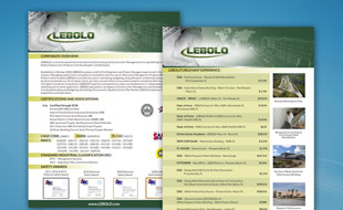 Capability Statement - Lebolo Construction Management Portfolio