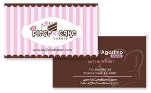 Piece of Cake Bakery Portfolio