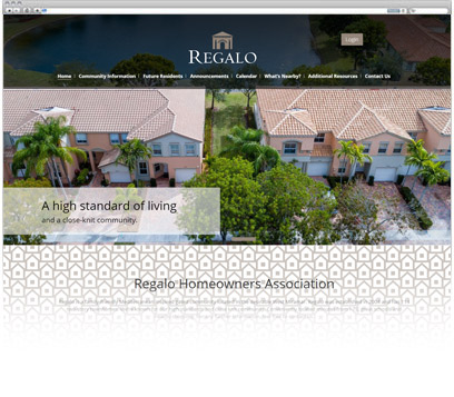 Regalo Homeowners Association Portfolio